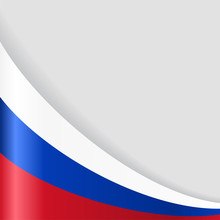 Russian Flag Background. Vecto...