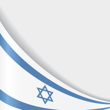 Israeli Flag Background. Vector Illustration.