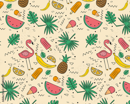 recznie-rysowane-wzor-owocow-tropikalnych