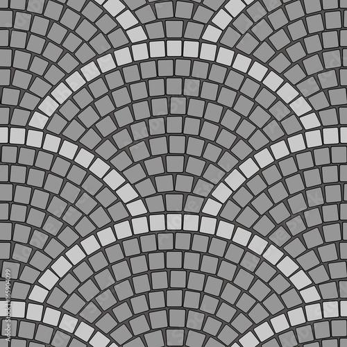 Cuadros en Lienzo Cobblestone Pavement Seamless vector pattern