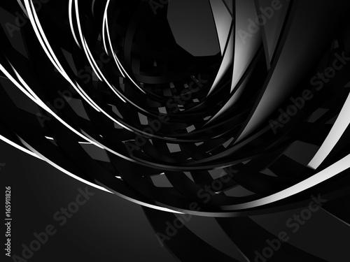 Vászonkép Abstract Dark Metallic Round Circles Design Background