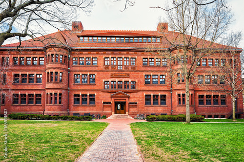 Fotografie, Obraz  Sever Hall in Harvard Yard MA America