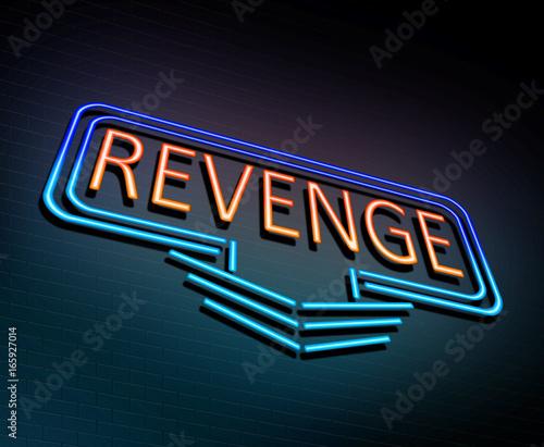Fotografía Neon revenge concept.