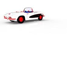 Vintage Car Template 3d Render...