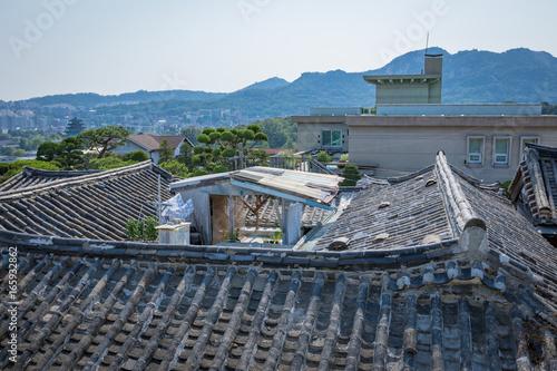 Photo  Korean traditional house, Bukchon Hanok Village on Jun 19, 2017 in Seoul city, S