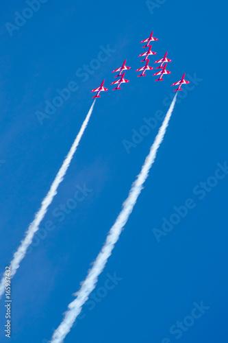 The Red Arrows RAF aerobatic display team. Fototapeta