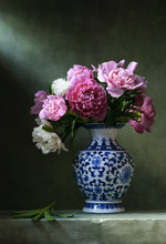 Still Life With Pink Peonies I...