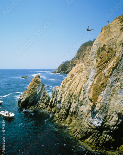 Photo MEXICO ACAPULCO CLIFF DIVERS.