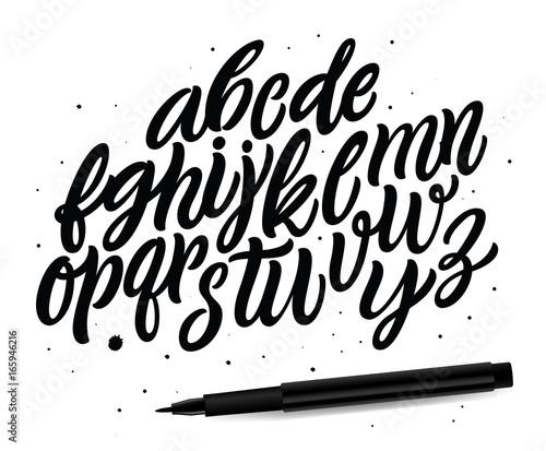 Cuadros en Lienzo Calligraphic vector script font