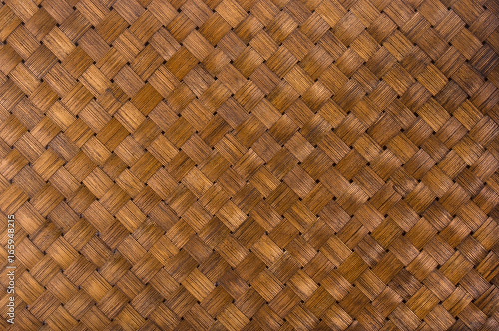 Fototapety, obrazy: braided rattan Mat - stand food