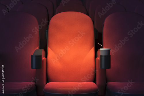 In de dag Theater Emoty cinema armchair