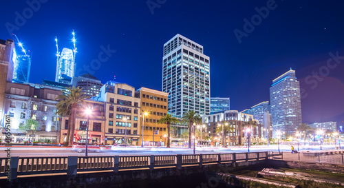 Fotografering  san francisco downtown city skyline at night