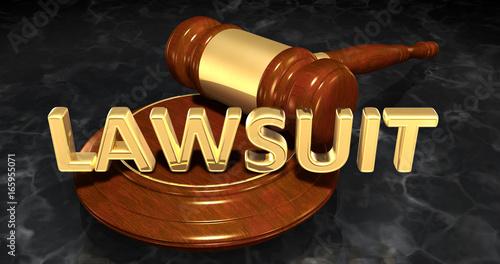 Photo Lawsuit Law Concept 3D Illustration