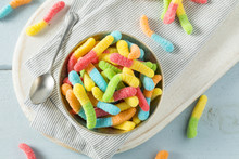 Sweet Sour Neon Gummy Worms