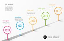 Infographic Company Milestones Timeline Vector Template
