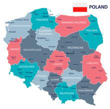 Poland - Map And Flag Illustra...