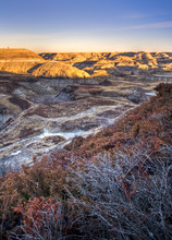 Horseshoe Canyon In The Alberta Bandlands Near Drumheller, Alber