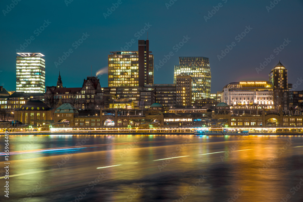 Hamburg Skyline Harbour Poster