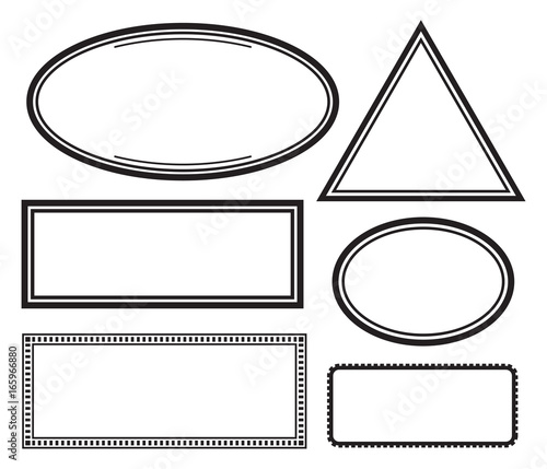 set of solid templates for rubber stamps vector illustration buy