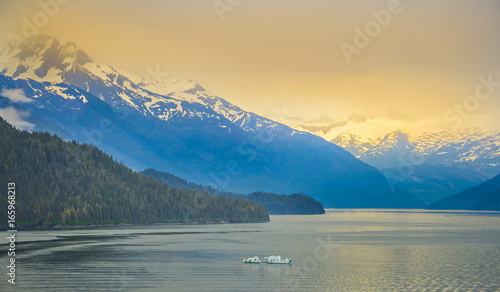 glaciers seen from mud bay on admiralty island Canvas Print