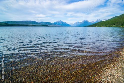 Fotografie, Obraz  lake mcdonald in glacier national park montanaa