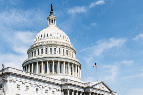 Fotografia, Obraz  The United States Capitol Building, home of Congress, and sitting atop Capitol Hill at the eastern end of the National Mall in Washington, D