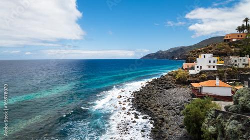 Door stickers Canary Islands Beautiful coastline of La Palma