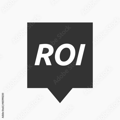 Isolated tooltip with    the return of investment acronym ROI Canvas Print