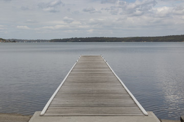 Fototapeta Molo lake macquarie warners bay jetty