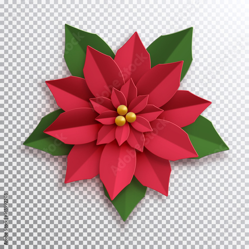 Origami: Christmas Flower / Poinsettia - Instructions in English ... | 500x500