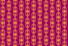 Purple Gold Diamond Tribal Pattern
