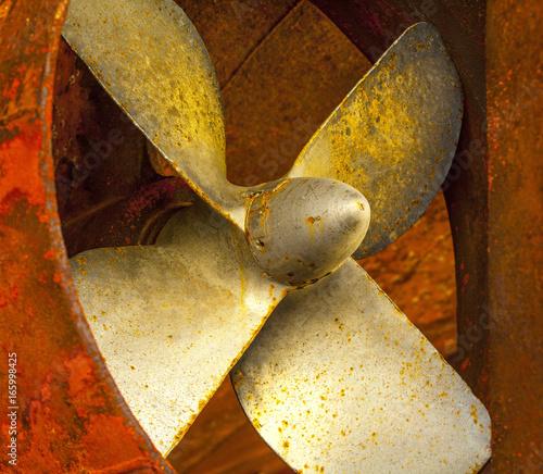Keuken foto achterwand Schip Ship propellers of a marine ship