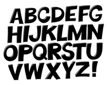 Comic Black And White Alphabet...