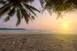 Sunset sky over tropical sea