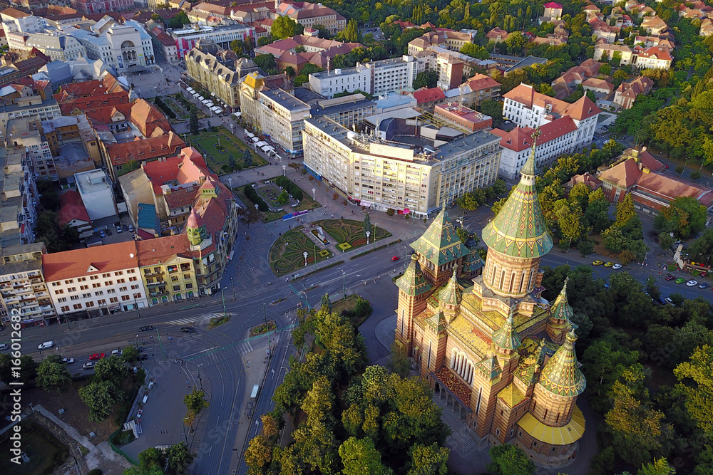 Fototapety, obrazy: Aerial of Timisoara, Romania