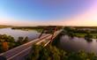 canvas print picture - Austin 36o Bridge