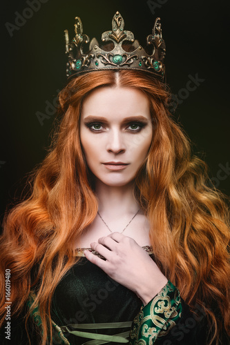 Fotografie, Obraz  Ginger queen near the castle