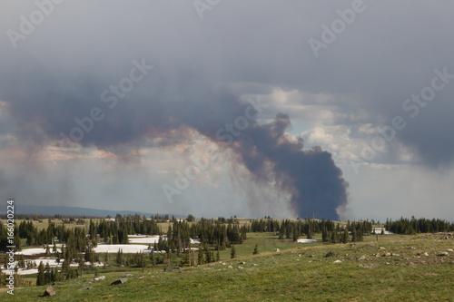 Fotografia, Obraz  Keystone Wildfire burning in Wyoming