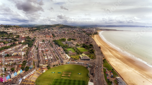 Editorial Swansea, UK - July 29, 2017: A view of Swansea City from 'The Rec' sho Canvas Print
