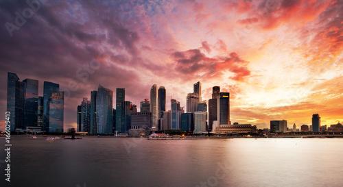 Singapour au crépuscule