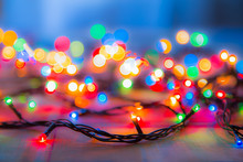 Colored Lights Christmas Garla...