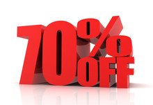 Seventy Percent Off Sale Conce...