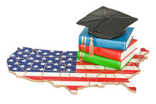 Education In USA Concept, 3D R...
