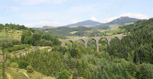 Poster Bridges viaduc de la recoumène,en haute loire