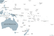 Oceania Political Map With Cou...
