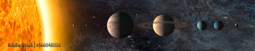 Photo sur Toile Univers Solar system. Elements of this image furnished by NASA