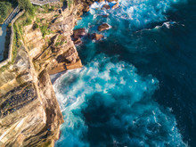 Aerial View Of Rock Cliff In Diamond Bay Area, Sydney