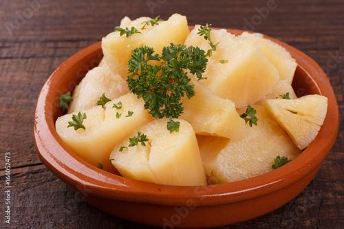 Fotografie, Obraz  Manihot esculenta (cassava, yuca, manioc, mandioca, Brazilian arrowroot)