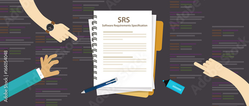 SRS Software Requirements Specification computer information technology IT Canvas Print