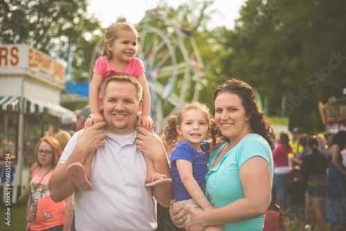 Family at fair Canvas Print